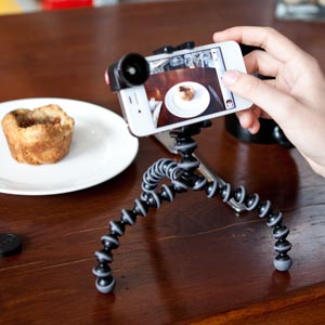 GripTight Gorillapod works with cases and accessories