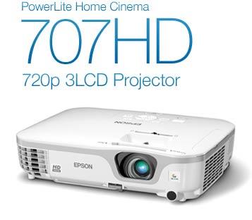 PowerLite Home Cinema 707HD 720p 3LCD Projector