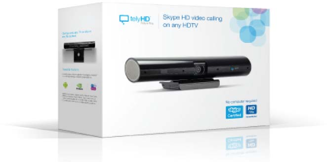 TelyHD Skype Web Cam for TV (includes Web Browsing functionality)
