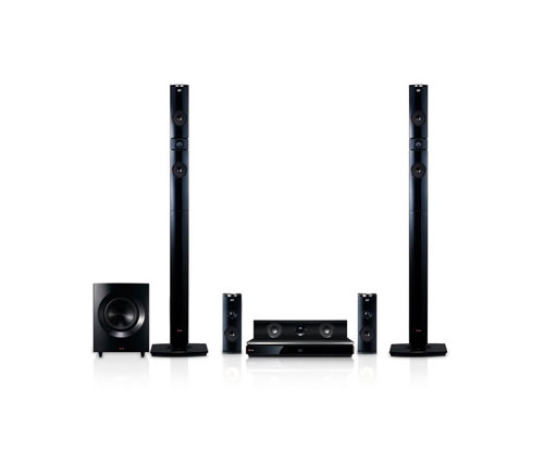 BH9430PW Home Theater System - 2 Tallboys, 2 Satellites- Yellow Aramid Fiber Speakers