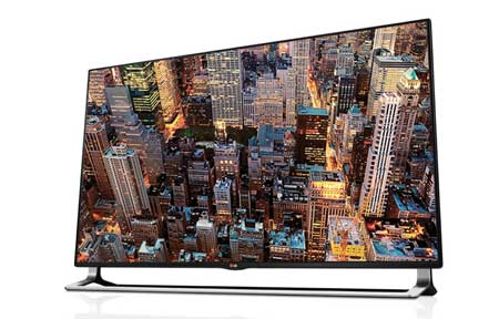 Amazon Com Lg Electronics 55la9700 55 Inch 4k Ultra Hd 240hz 3d Smart Nano Led Tv With Sliding Sound Bar 2013 Model Electronics