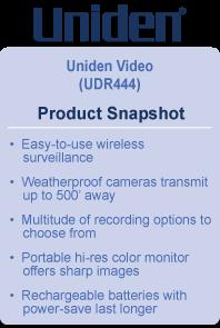 Amazon Com Uniden Udr444 Guardian 4 3 Inch Video