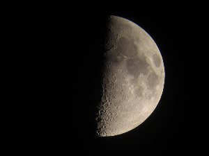 First quarter Moon shot at 36x with Powershot camera