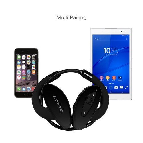 buy amkette trubeats pulse bluetooth headphones black online at low prices in india. Black Bedroom Furniture Sets. Home Design Ideas