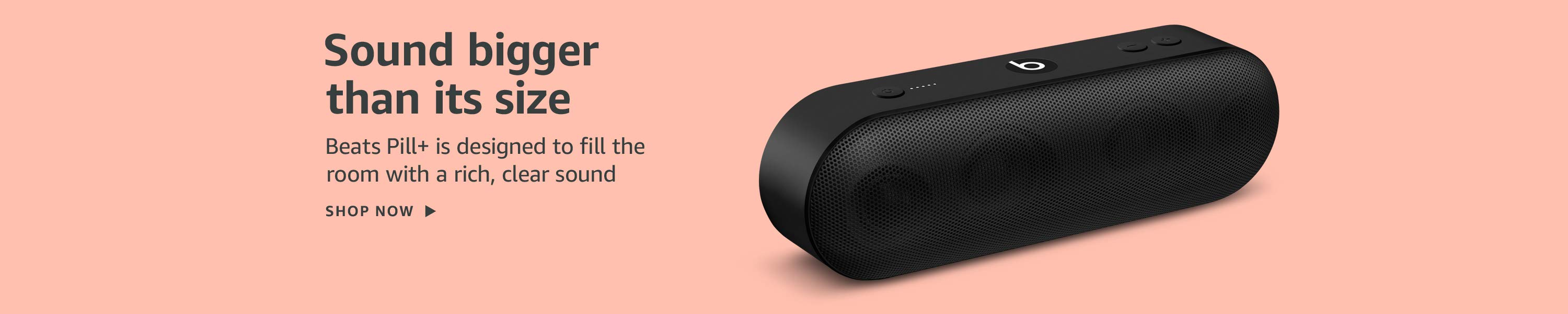 Sound bigger than its size. Beats Pill+ is designed to fill the room with a rich, clear sound.