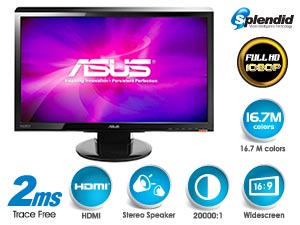 ASUS VH236H 23 Inch Widescreen LCD Monitor - Black