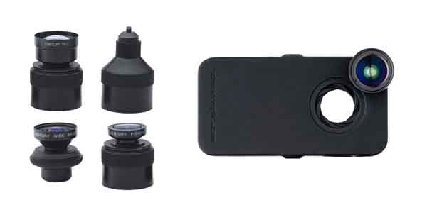 los angeles fa867 0113b iPro Lens System Wide Duo Kit with Fisheye Lens, Wide Angle Lens, iPhone  4/4S Case and Handle/Lens Case