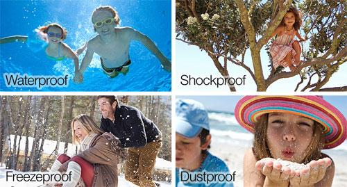 Waterproof, Shockproof, Freezeproof, Dustproof