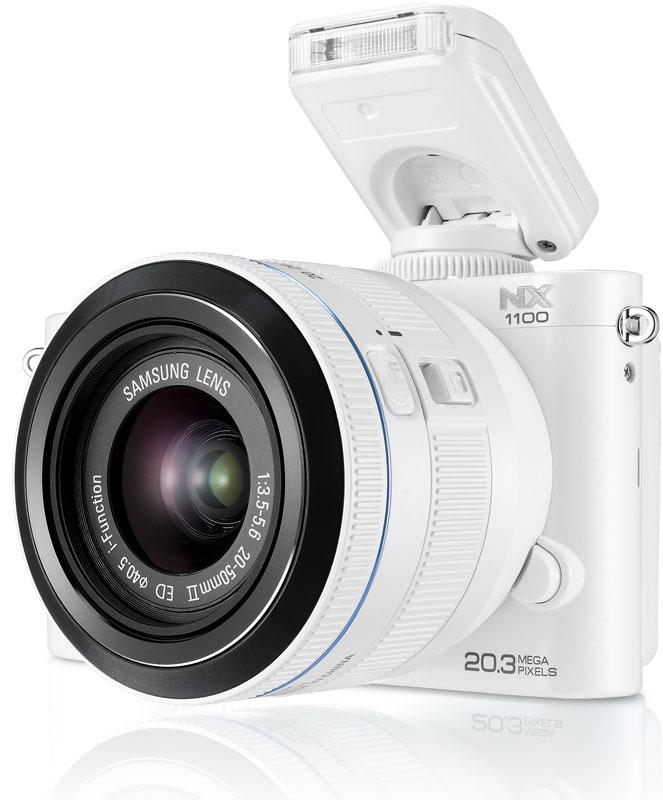 Amazon.com : Samsung NX1100 Smart Wi-Fi Digital Camera Body & 20 ...