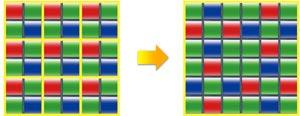X-Trans CMOS II sensor incorporates an original color filter array