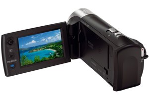 Full HD 60p Camcorder w/ built-in Projector