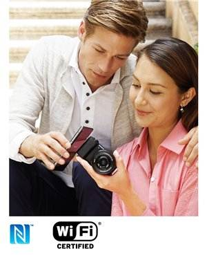 Instant sharing via smartphone with Wi-Fi and NFC