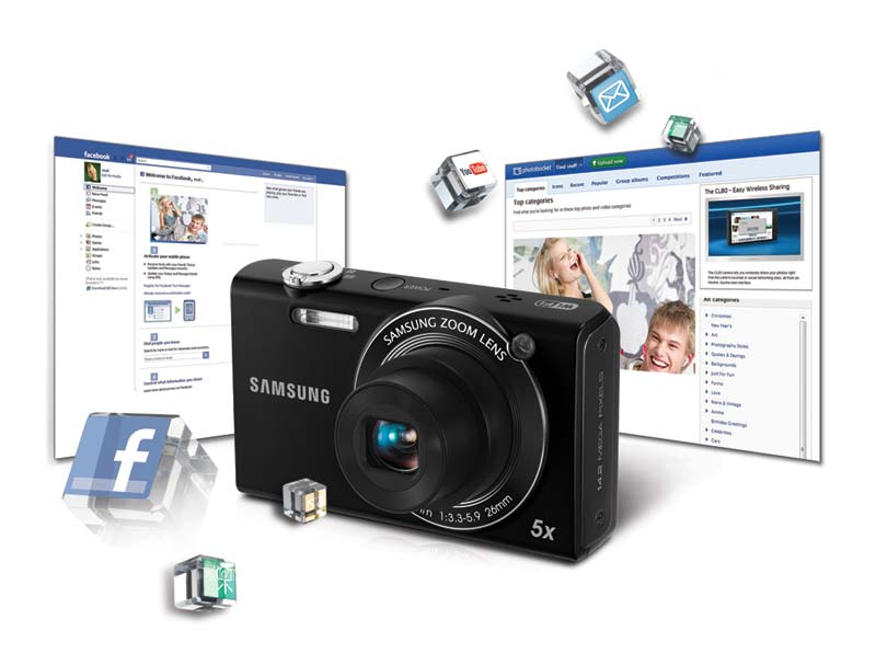 Wi-Fi-enabled technology lets you directly upload photos or videos to