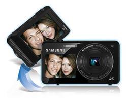 Samsung ST700 DualView 16.1-Megapixel Digital Camera product shot