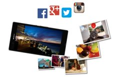 Use apps to edit and share photos instantly online
