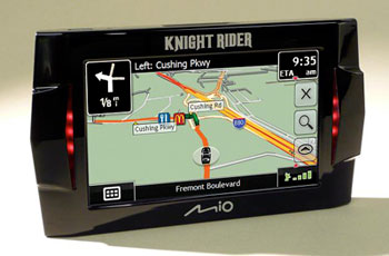 The Knight Rider Gps Features A   Inch Lcd Pre Loaded Maps Of The U S And Canada And Over  Million Points Of Interest