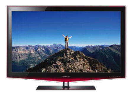 samsung ln55b650 55 inch 1080p 120 hz lcd hdtv with red touch of color 2009 model. Black Bedroom Furniture Sets. Home Design Ideas