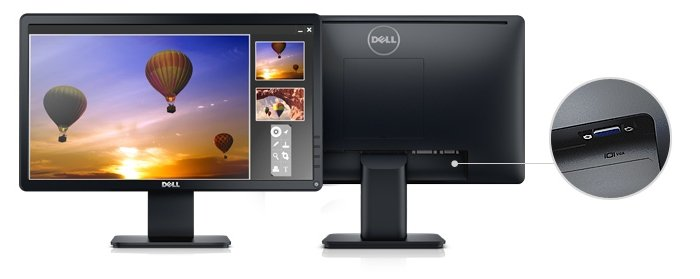 Dell 19 Monitor | E1914H: Designed to be reliable and clear.