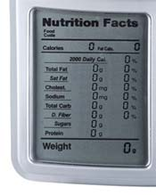 Kitrics Digital Nutrition Scale Display