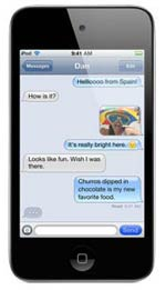 iPod touch iMessage