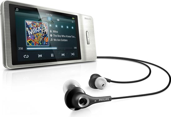 philips gogear muse 8 gb mp3 player silver. Black Bedroom Furniture Sets. Home Design Ideas