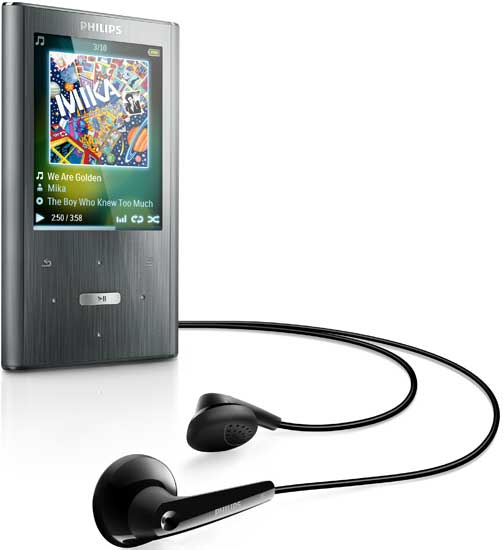 philips gogear ariaz 8 gb mp3 player silver home audio theater. Black Bedroom Furniture Sets. Home Design Ideas