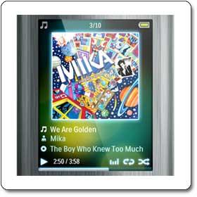 Philips GoGear Ariaz 8 GB MP3 Player (Gunmetal) SA2ARA08K/17