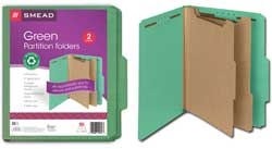 Smead 100% Recycled Classification Folders 14057