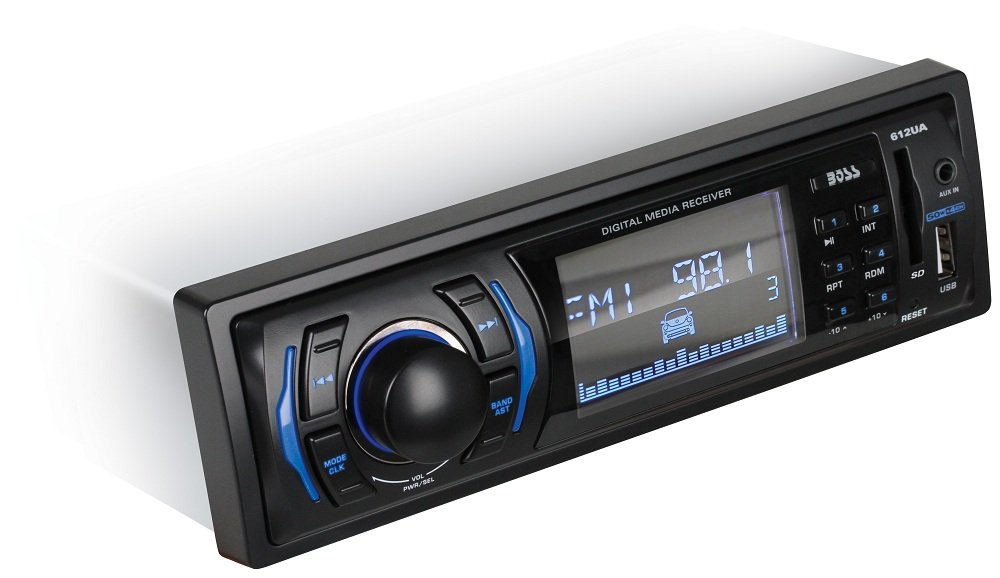 Amazon.com: BOSS Audio 612UA In-Dash Single-Din USB/SD/MP3 Player ...