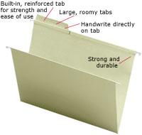Amazon Com Smead Fastab Hanging File Folder 1 3 Cut