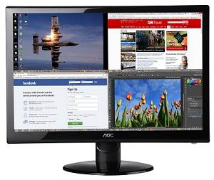 AOC e2752She 27-Inch Class Slim 2ms LED Monitor with Two HDMI Ports