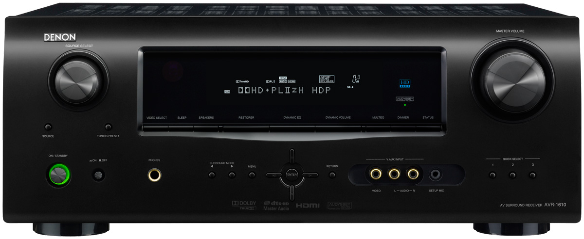 Denon AVR1610 5 1-Channel Home Theater Receiver with 1080p HDMI  Connectivity (Discontinued by Manufacturer)