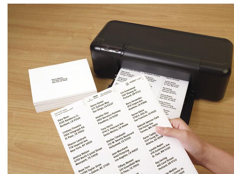 amazon com  avery easy peel address labels for inkjet