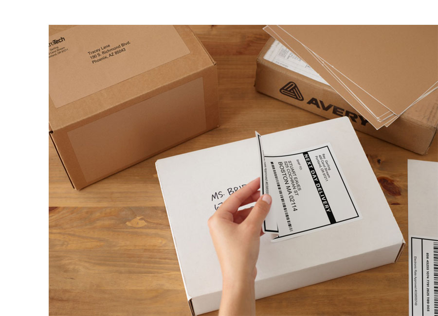Box Label: Amazon.com : Avery Shipping Labels For Inkjet Printers, 3