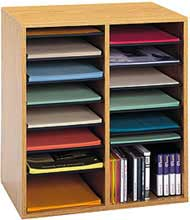 Modern wood organizer