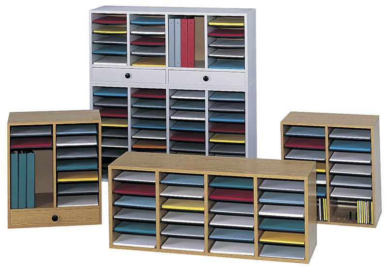 Amazoncom Safco Products 9424MO Wood Adjustable Literature