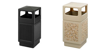 commercial outdoor trash cans. Hooded Top With Side Opening Commercial Outdoor Trash Cans