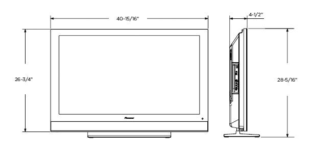 pioneer pdp 4280hd 42 inch 720p plasma hdtv electronics. Black Bedroom Furniture Sets. Home Design Ideas