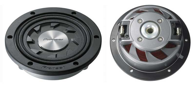 Amazon com: Pioneer TS-SW841D 8 In  Shallow-Mount Subwoofer