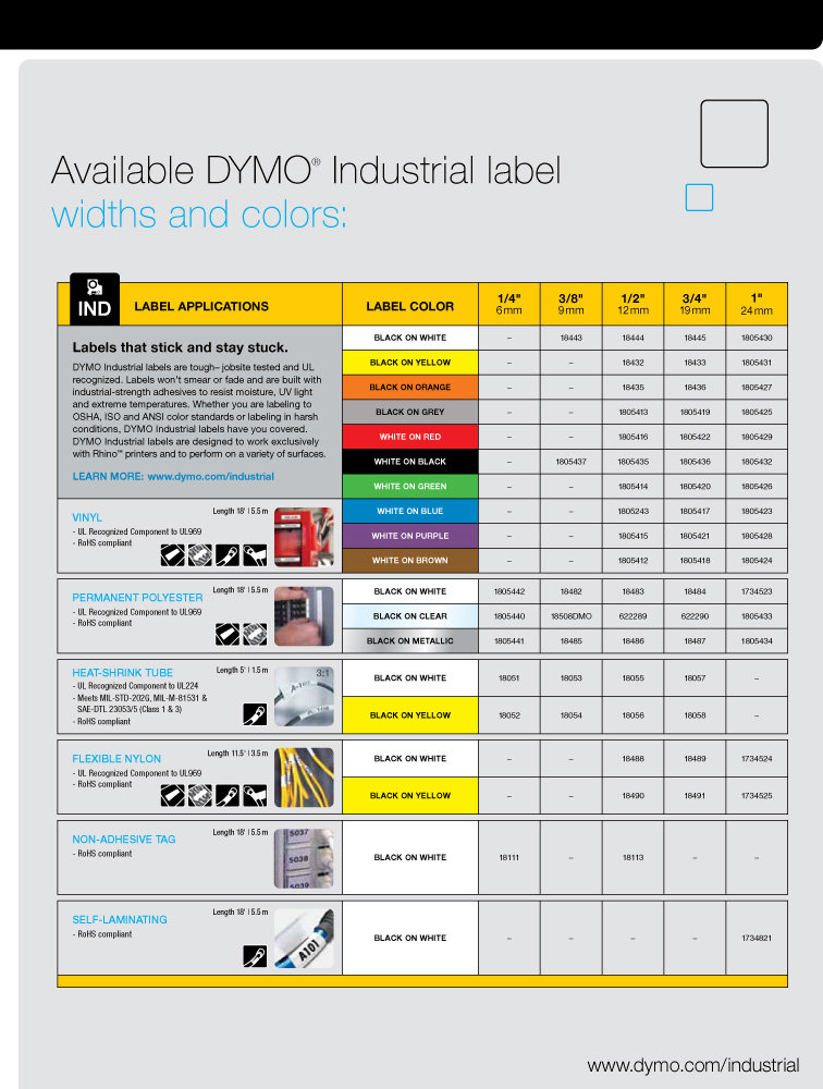 Dymo Label Sizes Dymo 1801611 Rhino 4200 Facility Security And Pro A V