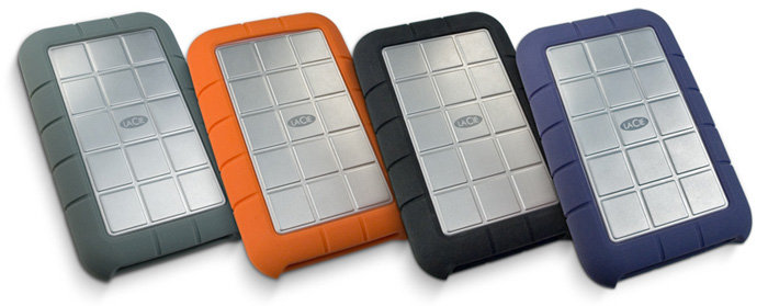 LaCie Rugged Portable All Terrain Hard drive 500GB FireWire 800//400 USB 2.0