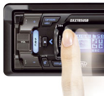 With a simple swipe of the fingertip, SLIDETRAK provides precise control of the key features on the head unit.