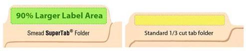 smead supertab file folder oversized reinforced 1 3 cut tab guide height letter. Black Bedroom Furniture Sets. Home Design Ideas