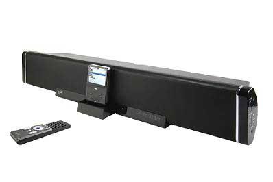 amazon com ilive 2 1 channel speaker bar with ipod dock black rh amazon com