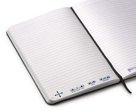Image of open lined journal.