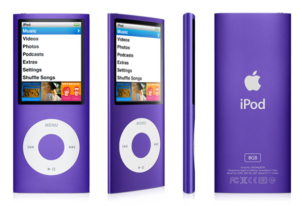 apple ipod nano 8 gb 4th generation purple discontinued by manufacturer home. Black Bedroom Furniture Sets. Home Design Ideas