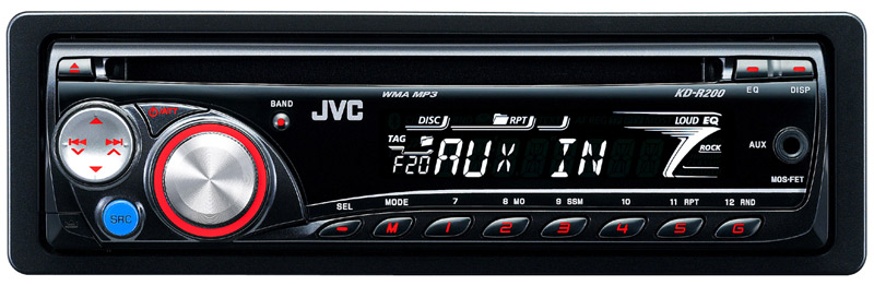 amazon com jvc kd r200 am fm single din mp3 wma compatible in caption click to enlarge