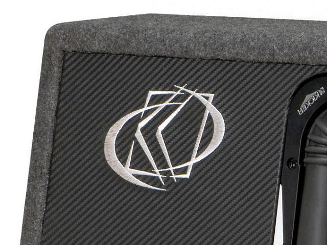 Carbon fiber look vinyl face with embroidered KICKER logo.  sc 1 st  Amazon.com & Amazon.com: Kicker 08VS10L72 Solo-Baric 10-Inch Vent Box 2-Ohm ... Aboutintivar.Com