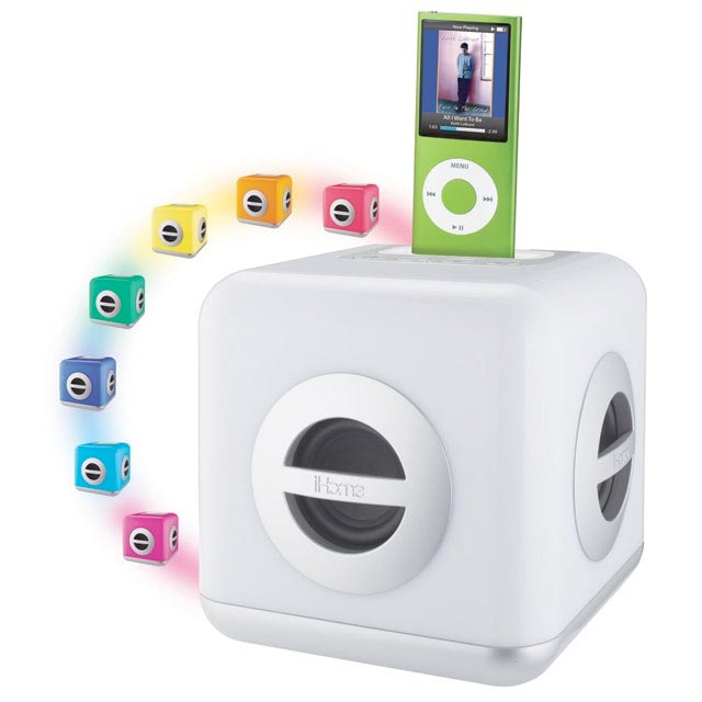 ihome ih15 color changing 30 pin ipod speaker
