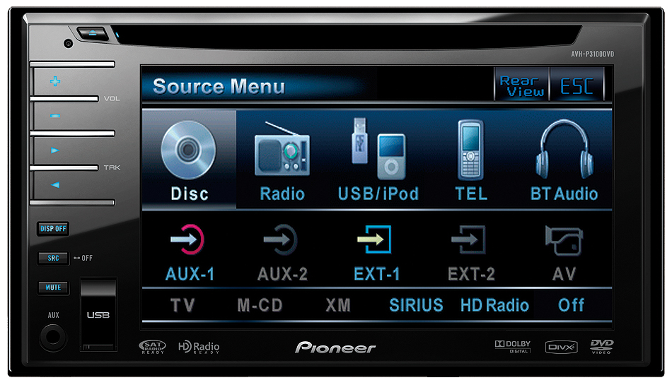 B001PA974Y 1 amazon com pioneer avh p3100dvd 5 8 inch in dash touchscreen pioneer avh p3100dvd wiring harness at n-0.co